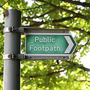 Footpath sign, East Hatley, Cambridgeshire.