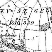 Hatley parish in 1885 - when it was part of Bedfordshire.
