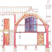 Hatley school, Hatley Cambridgeshire – section.