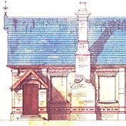 Hatley school, Hatley Cambridgeshire – side-elevation.