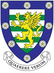 The Downing College crest.