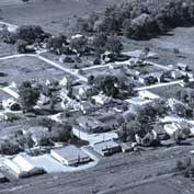 Aerial view of Hatley, Wisconsin USA.