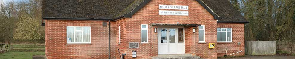 Hatley Village Hall, in Hatley St George, Cambridgeshire, is available for hire any day or evening of the week. Contact the Parish Clerk on 01767 650 596.