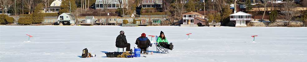 North Hatley, Quebec – Fishing on the lake opposite the municipal dock. Photo: Guy Veillettet.