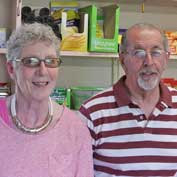 Sylvia and Mick Marshall run the Hatley shop and post office.