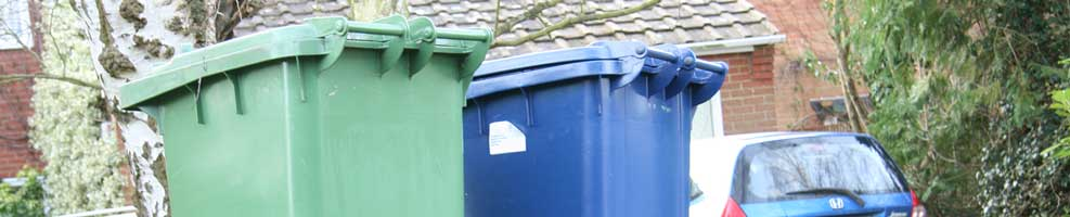 South Cambridgeshire District Council makes a regular Wednesday collection in Hatley to empty our bins – normally black bins one week, green and blue bins the next.