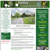 Final home page of the old Hatley website. It was replaced by the present design in early April 2019.