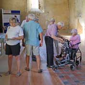 St Denis' church, East-Hatley was open over the weekend on 13th to 15th September 2019 for the Heritage Open Days festival. Over 100 people came to look round and generously donated £252.45 to the Friends of Friendless Churches, which owns the building to help in its endeavours to complete the restoration of the church.