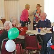 Well supported: the Macmillan Coffee Morning at Hatley Village Hall on 1st October 2019.