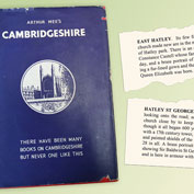 Arthur Mee's Cambridgeshire, first published in 1939 and reprinted in 1949. It includes a snapshot of East Hatley and Hatley St George.