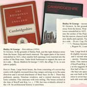 Buildings of England, Cambridgeshire, by Sir Nikolaus Pevsner, 1902-83 – first (1954) and second (1970) editions. They include snapshots of Hatley St George.