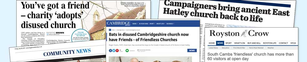 St Denis' church East Hatley – media coverage in 2017 and 2018.