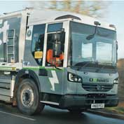 The £400,000 electric Dennis Eagle 'eCollect' bin lorry which SCDC has just purchased in conjunction with Cambridge City Council.