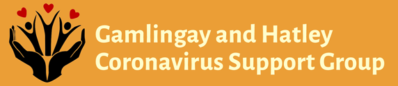 Gamlingay and Hatley Coronavirus Support Group header.