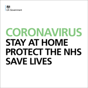 Coronavirus – front cover of the government's stay-at-home leaflet – 15-4-20.