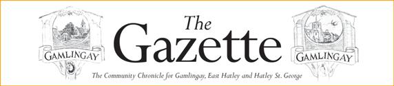Gamlingay Gazette masthead, April 2020.