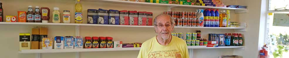 The Hatley shop and post office in Hatley St George, Cambridgeshire, sells all the basics one needs, including loo rolls, flour and baked beans. The shop is run by Mick (pictured) and Sylvia Marshall.