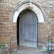 St-Mary's, Gamlingay – the main entrance is on the north side through the door under a two-storeyed porch. January 2020.