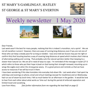 St Mary's, Gamlingay, weekly newsletter – 1st May 2020. Click on the graphic to download it.