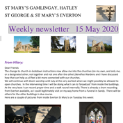 St Mary's, Gamlingay, weekly newsletter – 15th May 2020.