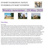 St Mary's, Gamlingay, weekly newsletter – 22nd May 2020.