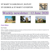St Mary's, Gamlingay, weekly newsletter – 12th June 2020.