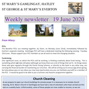 St Mary's, Gamlingay, weekly newsletter – 19th June 2020.