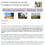 St Mary's, Gamlingay, weekly newsletter – 26th June 2020.