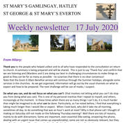 St Mary's, Gamlingay, weekly newsletter – 17th July 2020.