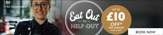 Eat Out To Help Out – UK taxpayer funded incentive running during August 2020 to to help restaurants, pubs and cafes.