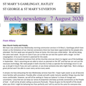 St Mary's, Gamlingay, weekly newsletter – 7th August 2020.