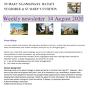 St Mary's, Gamlingay, weekly newsletter – 14th August 2020.