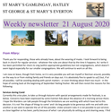 St Mary's, Gamlingay, weekly newsletter – 21st August 2020.