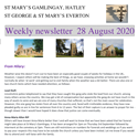 St Mary's, Gamlingay, weekly newsletter – 28th August 2020.