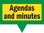 Hatley Parish Council's website page mini-heading – 'Agendas and minutes'.