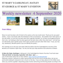 St Mary's, Gamlingay, weekly newsletter – 4th September 2020.