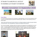 St Mary's, Gamlingay, weekly newsletter – 11th September 2020.