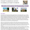 St Mary's, Gamlingay, weekly newsletter – 25th September 2020.