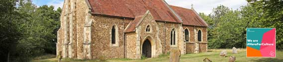 St Denis' church, East Hatley, Cambridgeshire, 5th August 2020. The Friends of Friendless Churches has been awarded a government Culture Recovery Fund grant of £58,200 to help with repairs to the interior of the building.