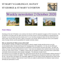 St Mary's, Gamlingay, weekly newsletter – 2nd October 2020.