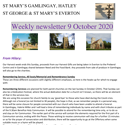 St Mary's, Gamlingay, weekly newsletter – 9th October 2020.