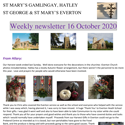 St Mary's, Gamlingay, weekly newsletter – 16th October 2020.