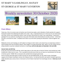 St Mary's, Gamlingay, weekly newsletter – 30th October 2020.