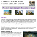 St Mary's, Gamlingay, weekly newsletter – 6th November 2020.