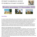 St Mary's, Gamlingay, weekly newsletter – 13th November 2020.