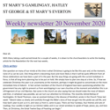 St Mary's, Gamlingay, weekly newsletter – 20th November 2020.