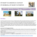 St Mary's, Gamlingay, weekly newsletter – 27th November 2020.