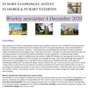 St Mary's, Gamlingay, weekly newsletter – 4th December 2020.