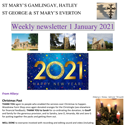 St Mary's, Gamlingay, weekly newsletter – 1st January 2021.