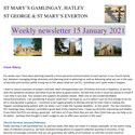 St Mary's, Gamlingay, weekly newsletter – 15th January 2021.